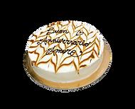 torta vaniglia, mascarpone e caramello, minimal