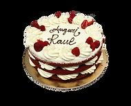 torta red velvet e mascarpone, naked