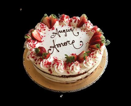 torta red velvet alla panna con fragole, bohemién