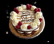 torta red velvet con lamponi e caramello