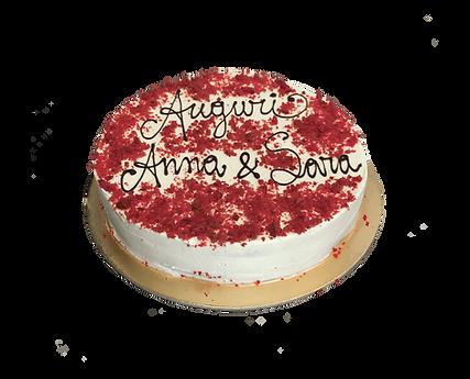 torta red velvet con cioccolato, minimal
