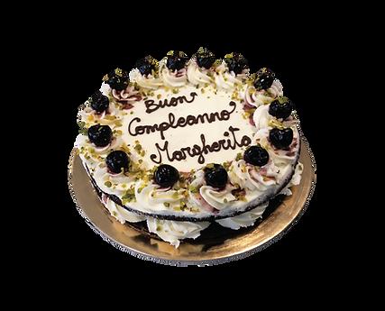 torta cioccolato e crema cheesecake con pistacchio, naked
