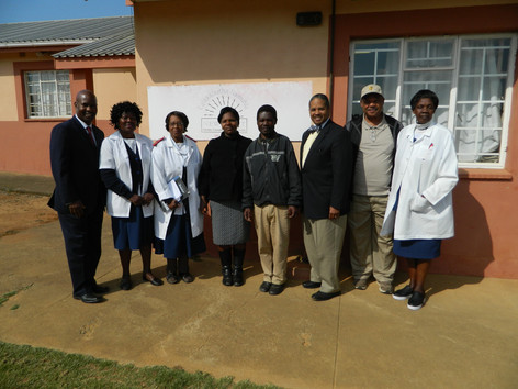Medical staff along with Executive Secretary and Chairman, and State Rep of FMB