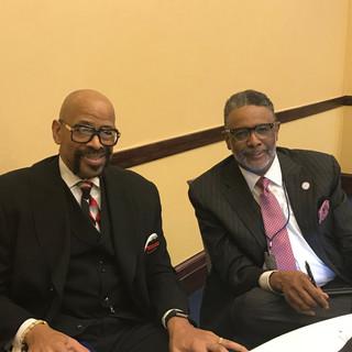 Dr. Myron Barnes and Rev. Albert G. Davis, Jr.