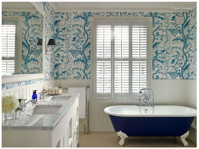 5 Nature-Inspired Wallpaper Styles for a Blissful Bathroom