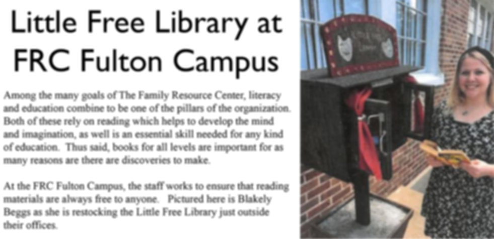 Little Free Library at FRC Fulton Campus