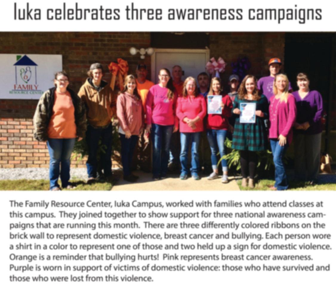 Iuka celebrates three awareness campaign