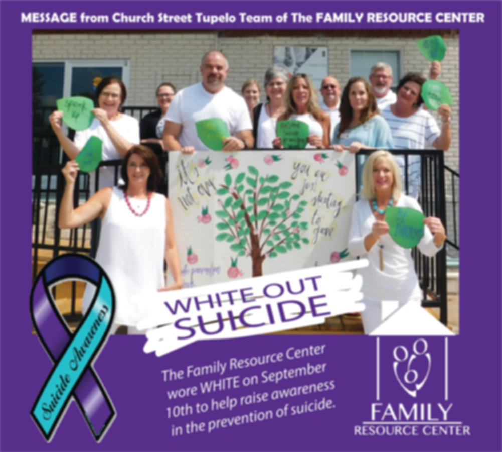 White out suicide ribbon GROUP Church St