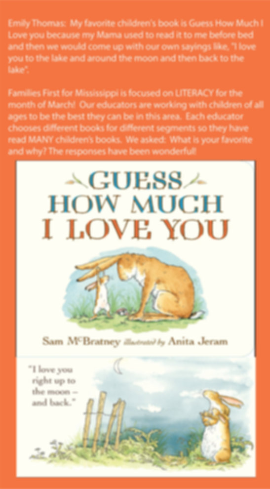Favorite Books Guess How Much I Love You