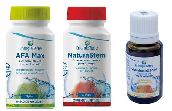 Programme Immunitaire : AFA MAX + NATURASTEM + VITAMINE D3 SOLEIL