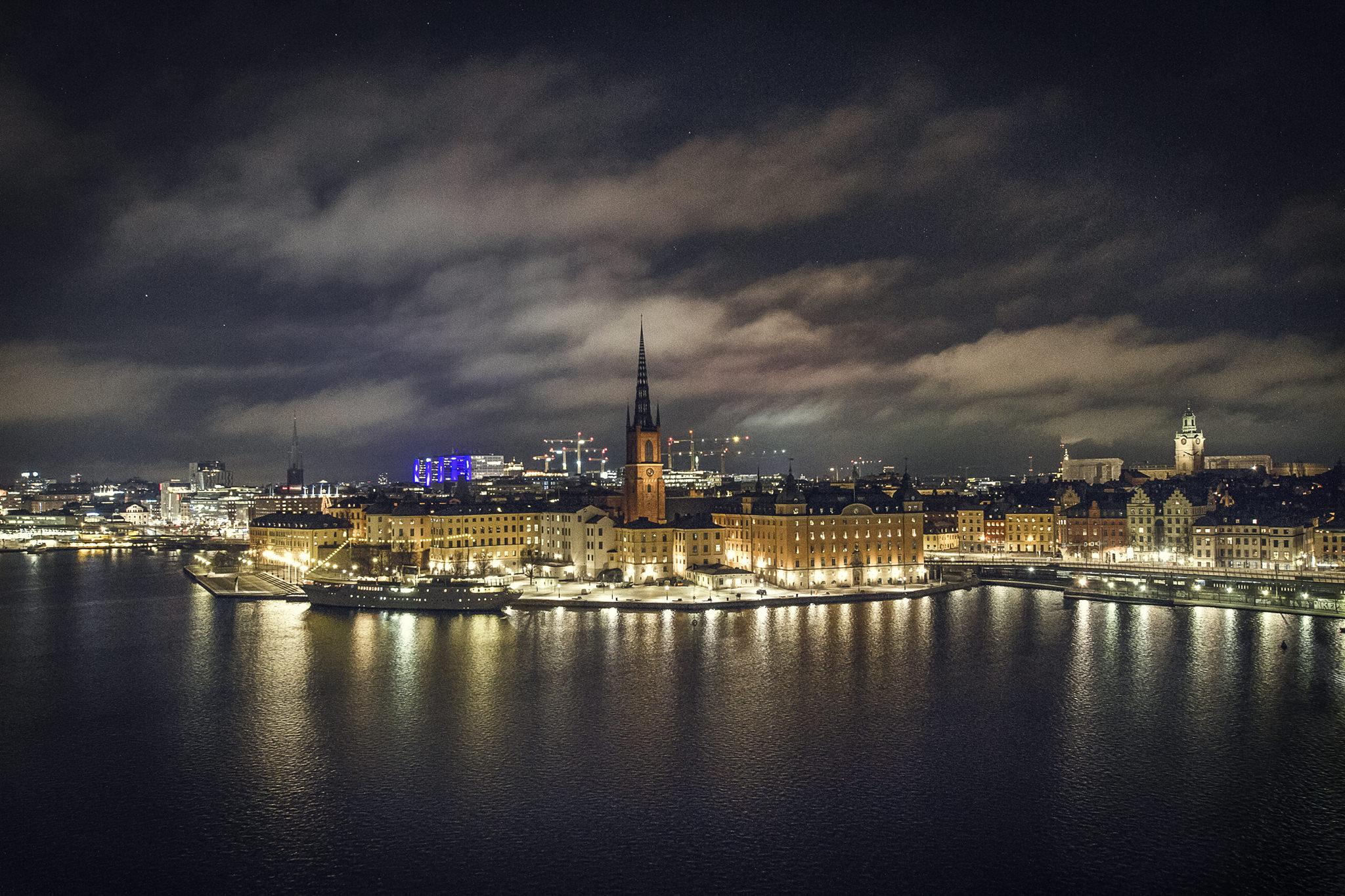 Stockholm Gamla Night Riddarholmen