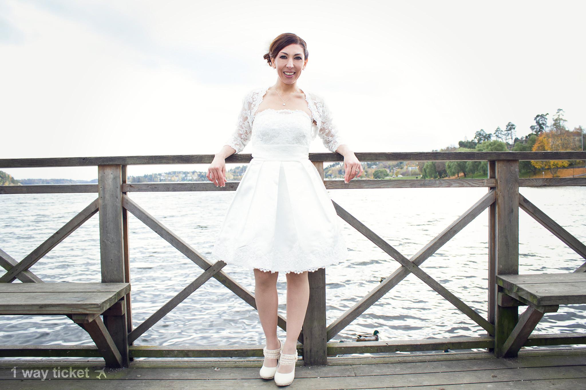 Bride And Sea