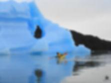 Kayak en la Patagonia Glaciar Grey