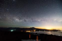 Vía Láctea Volcán Calbuco