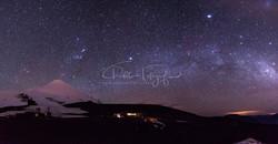 Estrellas en el Volcán Osorno
