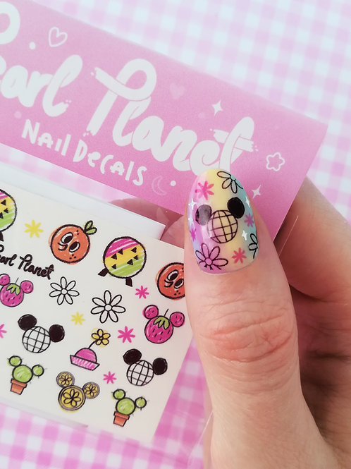 FLOWER AND GARDEN PACK - Waterslide Nail Decals