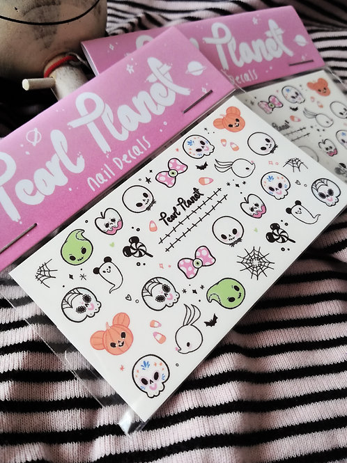 NOT SO SCARY PACK - Waterslide Nail Decals