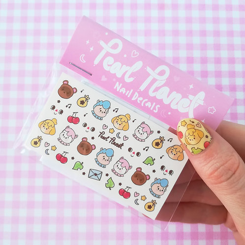 ANIMAL X'ING PACK - Animal Crossing inspired, Waterslide Nail Decals