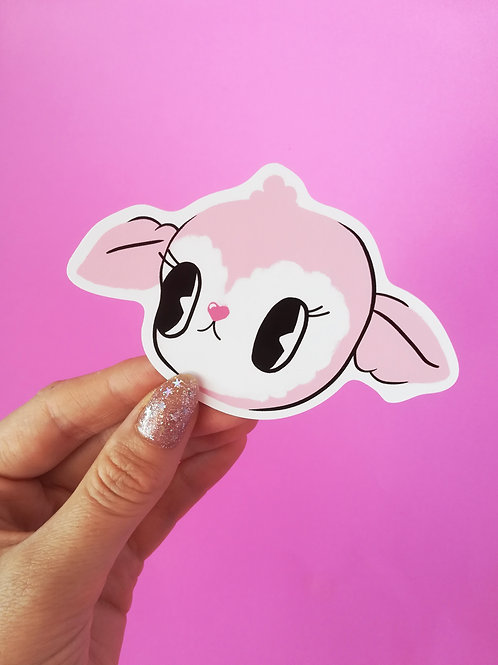 CANDY LAMB STICKER - 10 x 6cm Vinyl Sticker
