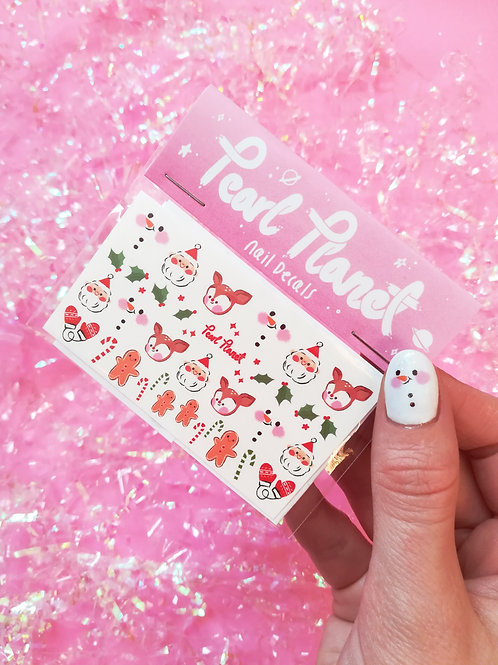 NAILED THE NICE LIST PACK - Waterslide Nail Decals