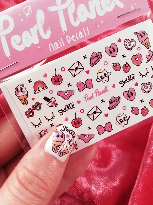SWEET ON YOU PACK - Waterslide Nail Decals