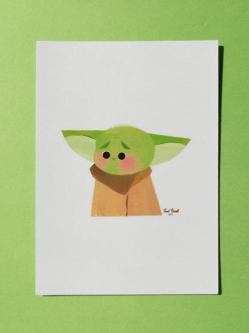 Baby Yoda A6- Art Print