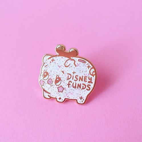 Disney Funds Piggy Money Bank 25mm Hard Enamel Glitter Pin