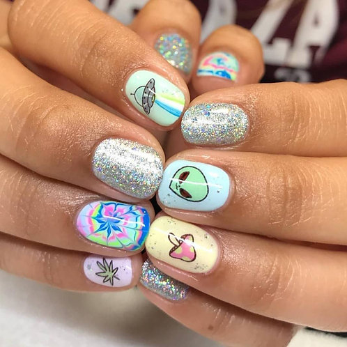 SPACE BABES PACK - Waterslide Nail Decals