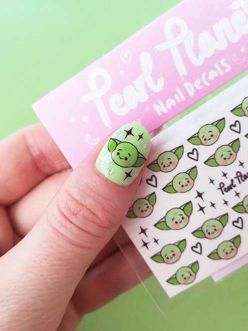 BABY YODA PACK - Waterslide Nail Decals