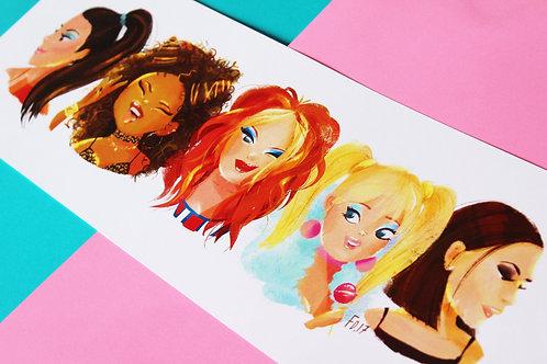 A3 Spice Girls - Art Print
