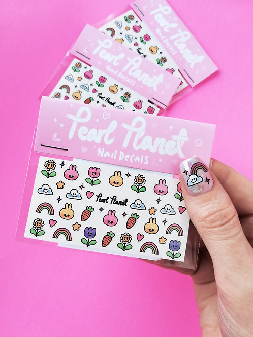 SPRING BUNS PACK - Waterslide Nail Decals