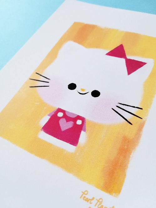 Hey Kitty A6- Art Print