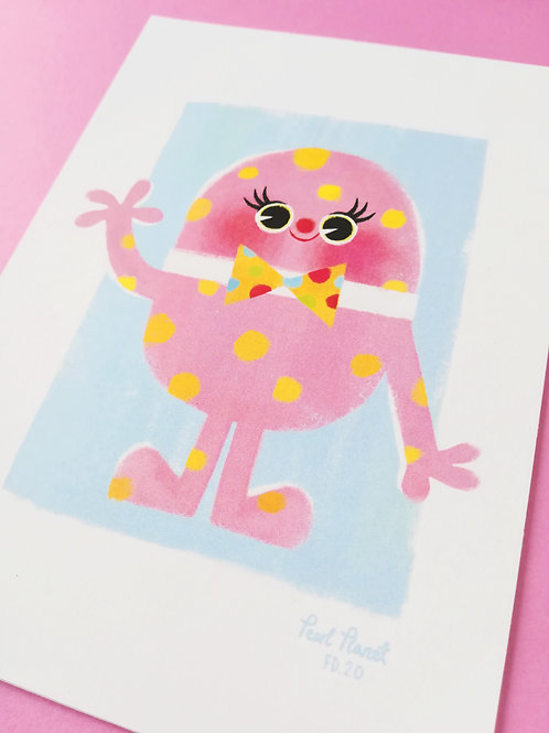 Mr Blobby A6- Art Print