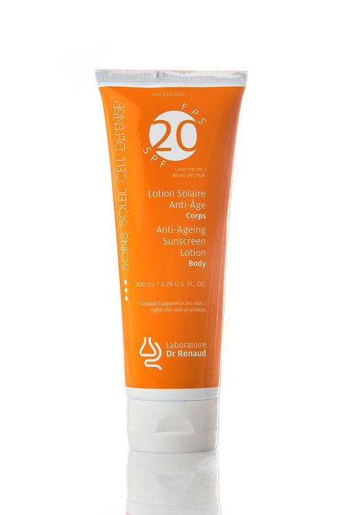 Lotion solaire Anti-âge Corps FPS 20 200 ml