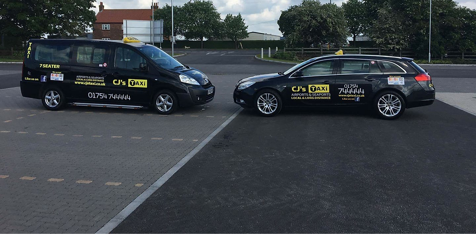 2 CJ's taxis head on skegness taxi at its best