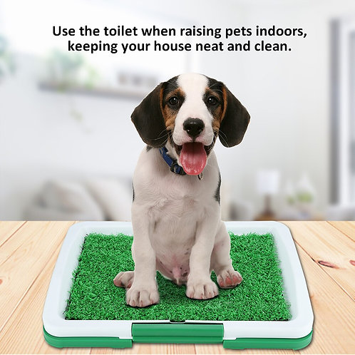 Potty Training Mat Grass Pad With Mesh Toilet for Dogs