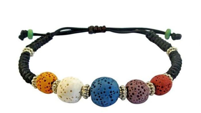 Multi-Color Lava Stone Bracelet