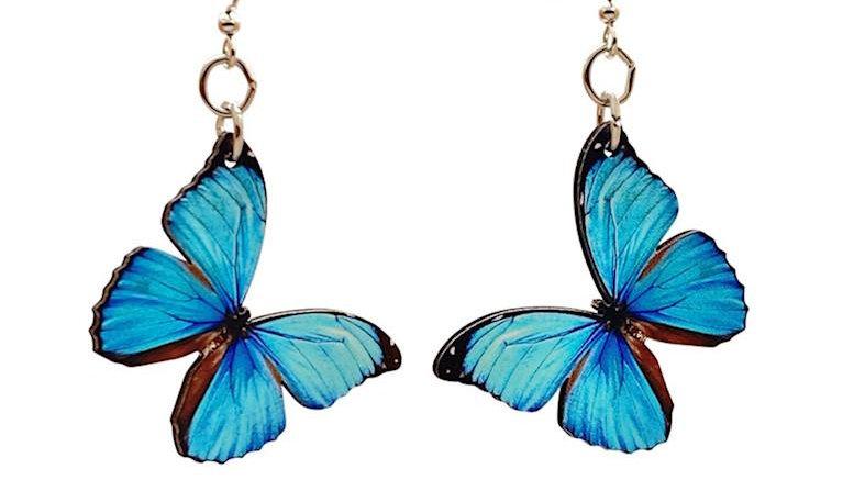 Blue Butterfly Earrings #T173