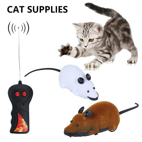 Mouse Toy with Wireless Remote Control for Cats