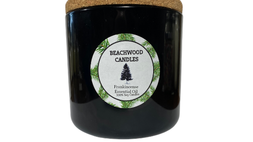 Frankincense Essential Oil Soy Wax Candles - 16oz Recycled Glass Jar