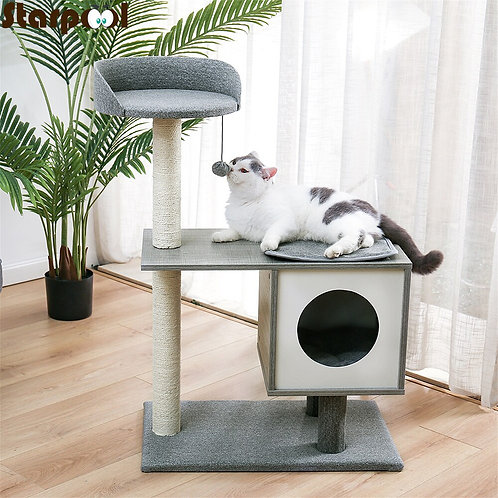 Cat Tree Condo House Tower with Scratcher Post