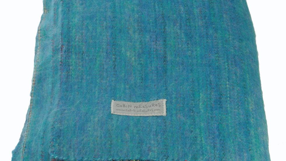 100% Alpaca Travel Blanket in Turquoise