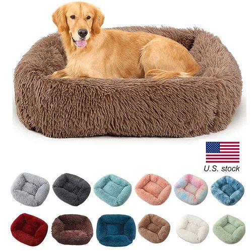 Square Soft Plush Warm Pet  Bed