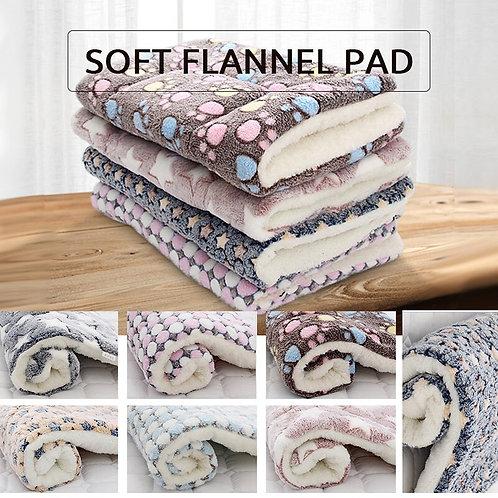 Reversible Soft Fleece Pet Bed Cushion Blanket