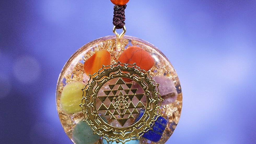 Orgonite Pendant Chakra Reiki Healing Necklace Sweater Chain Necklace