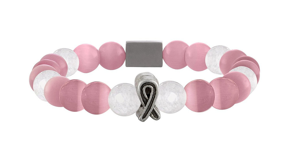 American Cancer Society Beaded Bracelet - Pink