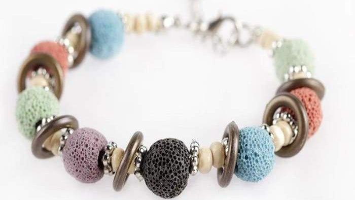 Multi Color Lava Stone Bracelet 2