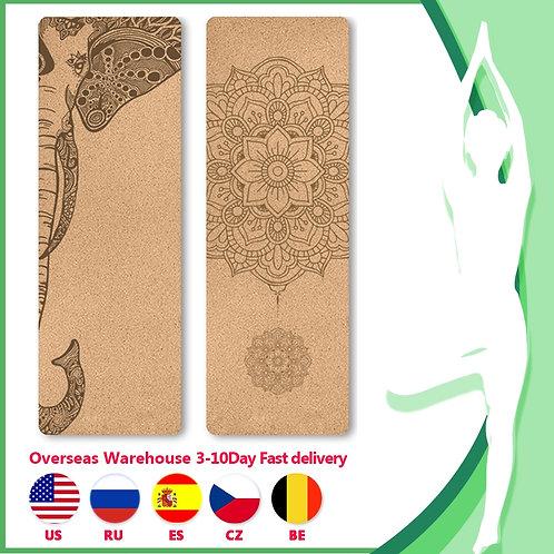 Natural Cork Yoga  Mat and Accessories