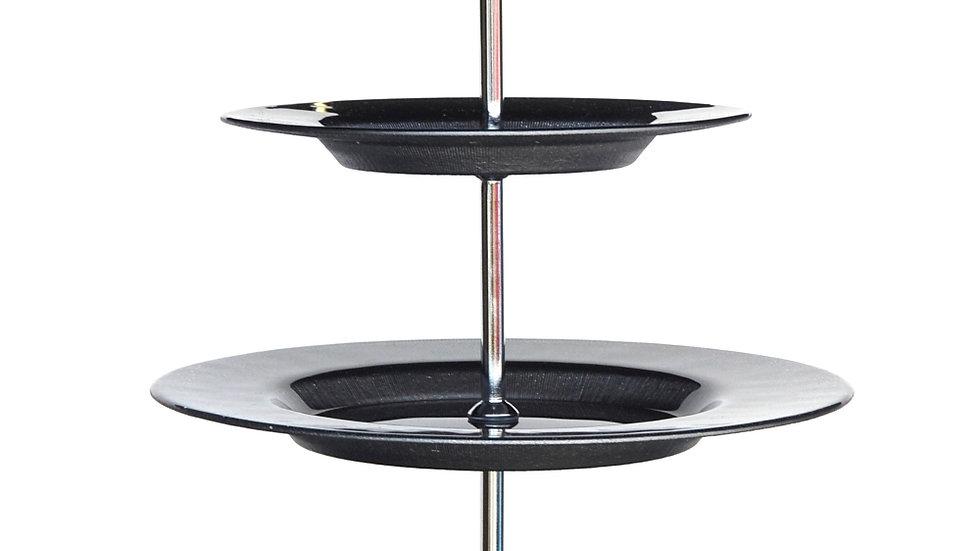 RITZ Gray/Silver Three Tier Plate