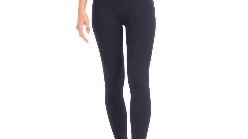 """New Full Shaping Legging With Double Layer 5"""" Waistband - Black"""